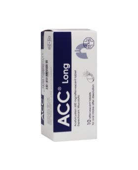 ACC Long 600 mg Effervescent Tablets 10's