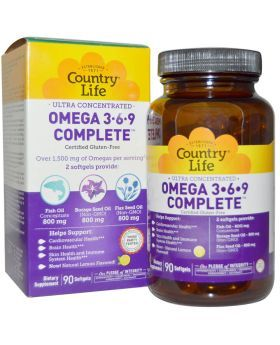 Country Life Omega 3-6-9 Complete Softgels 90's