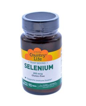 Country Life Selenium 200 mcg Tablets 90's