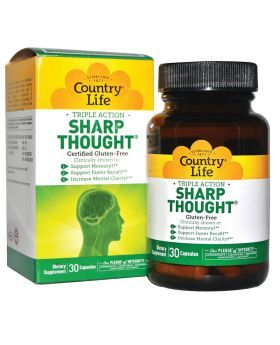 Country Life Triple Action Sharp Thought Capsules 30's