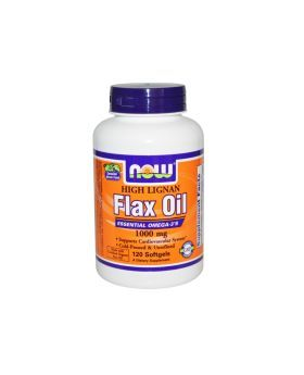 Now Flax Seed Oil 1000 mg Softgels 120's