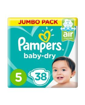 Pampers Active Baby Dry 5 11-18 kg Junior Value Pack 38's