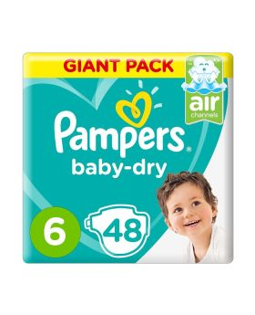Pampers Active Baby Dry 6 Large XXL 15+ kg Mega Pack 48's