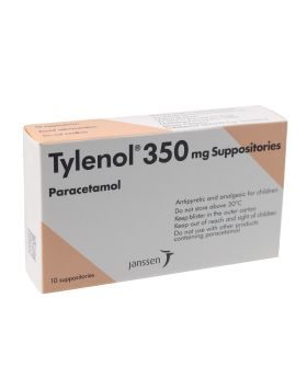 Tylenol 350 mg Suppositories 10's
