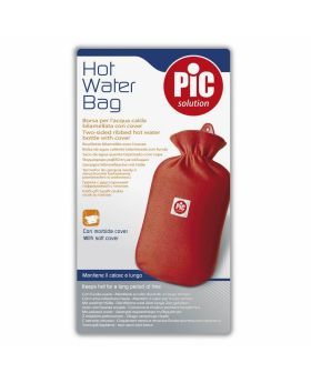 Pic Two-Sided Ribbed Hot Water Bag With Cover
