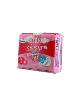 Always Cottony Soft Ultra Thin Large With Wings Pads 8's