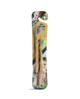 WooBamboo Child's Sprout Two Pack Soft Tooth Brush 7C2P