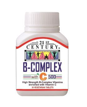 21st Century B-Complex With C Tablets 30's