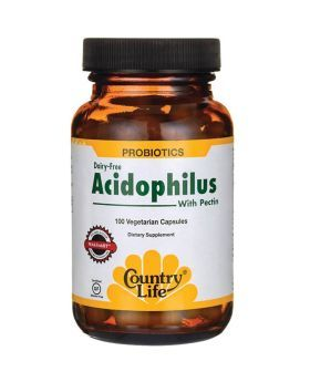 Country Life Acidophilus With Pectin Capsules 100's