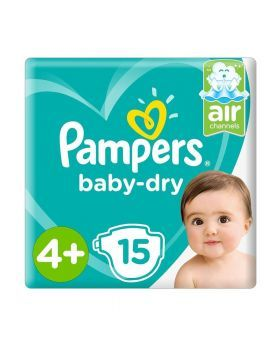 Pampers Baby-Dry 4+ 15's