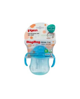 Pigeon Mag Mag Straw Cup Sky Blue 200 mL