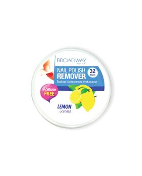 Kiss Broadway Nail Polish Remover Pads Lemon Scented 36A 32's
