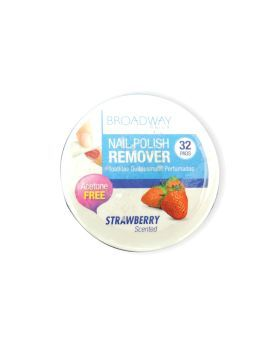 Kiss Broadway Nail Polish Remover Pads Strawberry Scent 36B 32's