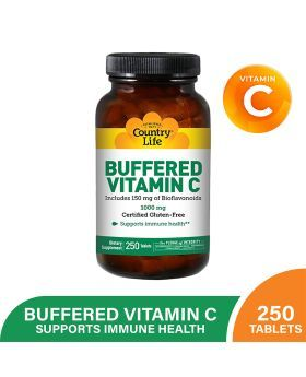 Country Life Buffered Vitamin C 1000 mg Tablets 250's