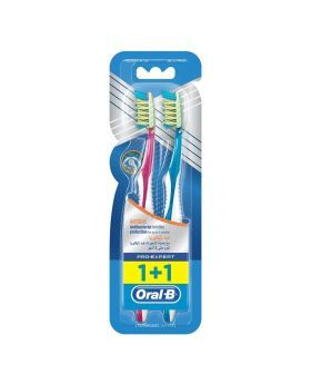 Oral B Pro-Expert Cross Action Antibacterial Tooth Brush 40 M 1+1