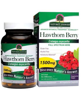 Nature's Answer Hawthorn Berry 1500 mg Vegetarian Capsules 90's