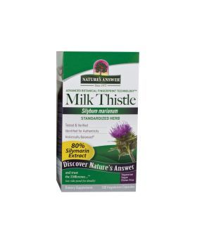 Nature's Answer Milk Thistle Seed Standardized Vegetarian Capsules 120's