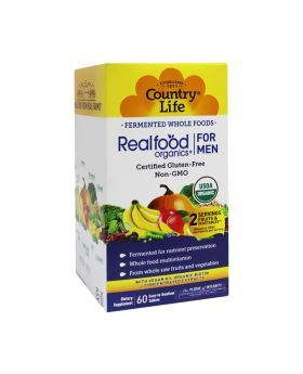 Country Life Real Food Organics Men's Daily Nutrition Tablets 60's