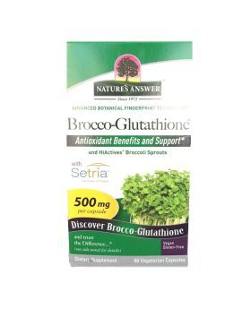 Nature's Answer Brocco-Glutathione 500 mg Vegetarian Capsules 60's