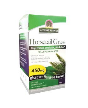 Nature's Answer Horsetail Grass 450 mg Vegetarian Capsules 90's