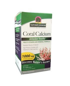 Natures Answer Coral Calcium 1000 mg Capsules 90's