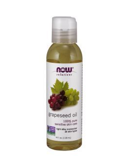 Now Grapeseed Oil 100% Sensitive Skin Care 118 mL