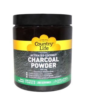 Country Life Activated Coconut Charcoal 500 mg Powder 280 Servings 3495