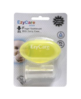 Ezycare Finger Toothbrush With Carry Case 14358
