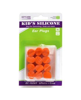 Ezycare Kid's Silicone Ear Plugs 6 Pairs 10265