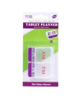 Ezycare Daily AM/PM Push N' Button Tablet Planner 17434