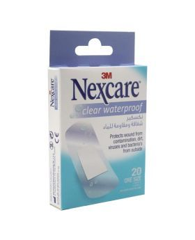 3M Nexcare Clear Waterproof Bandages One Size 20's