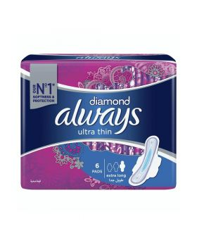 Always Diamond Ultra Thin Extra Long With Wing 6's 12660