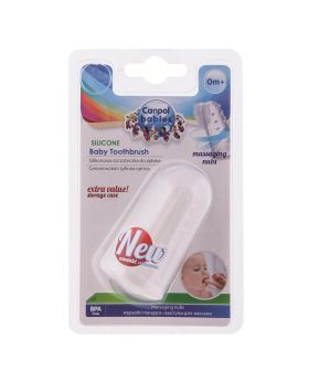 Canpol Babies Silicone Toothbrush with Rubs and Cover 56/159