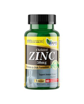 AMS Chelated Zinc 50 mg Tablets 60's