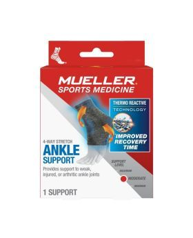Mueller 4-Way Stretch Knit Ankle Support