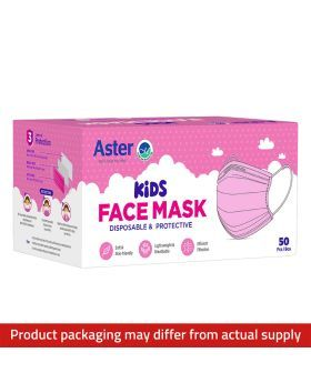 Aster Kids Face Mask Pink 50's