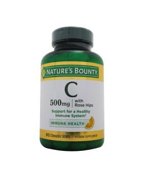 Nature's Bounty C 500 mg with Rose Hips Chewable Tablets 90's