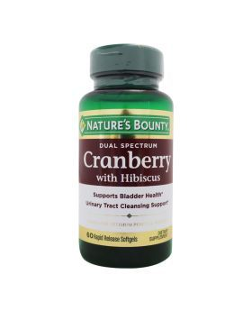 Nature's Bounty Dual Spectrum Cranberry with Hibiscus Softgels 60's