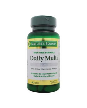 Nature's Bounty Iron Free Daily Multi Adults 50+ Caplets 80's