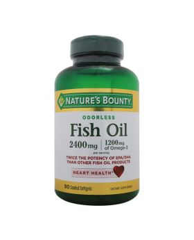 Nature's Bounty Odorless Fish Oil 2400 mg Softgels 90's