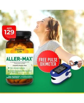 Country Life Allermax V-Capsules 50's + AF Pulse Oximeter