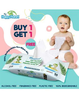 My Happy Planet 100% Biodegradable Eco-Wipes 60's